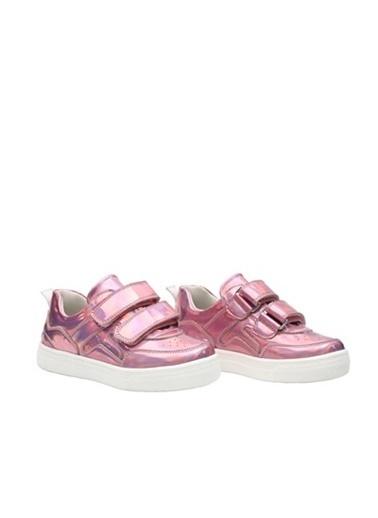 Kids A More Bonita Parlak Helogram Ayna Çift Cırtlı Kız Çocuk Ayakkabı  Pembe